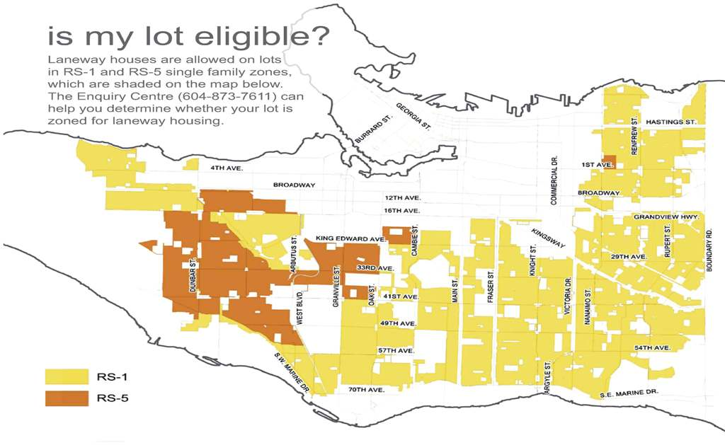 Vancouver zoning map for laneway house